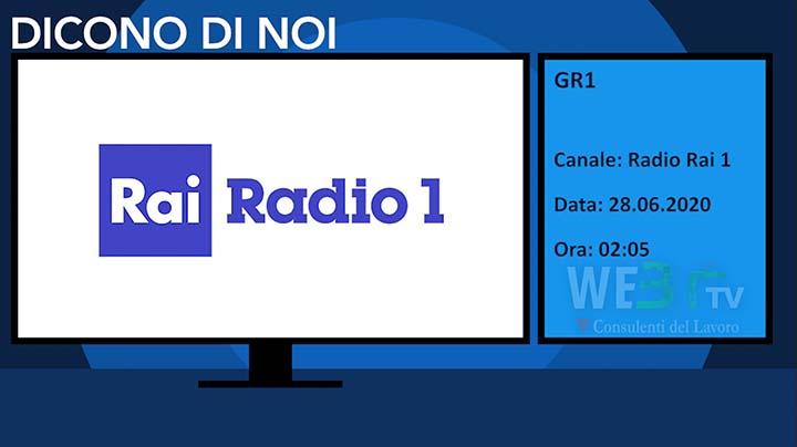 Radio Rai 1 - Gr1 del 28.06.2020