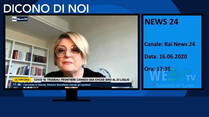RaiNews 24 del 16.06.2020