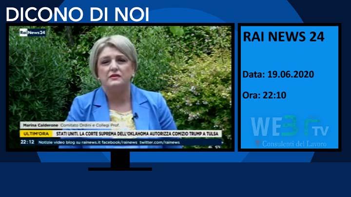 Rai News 24 del 19.06.2020