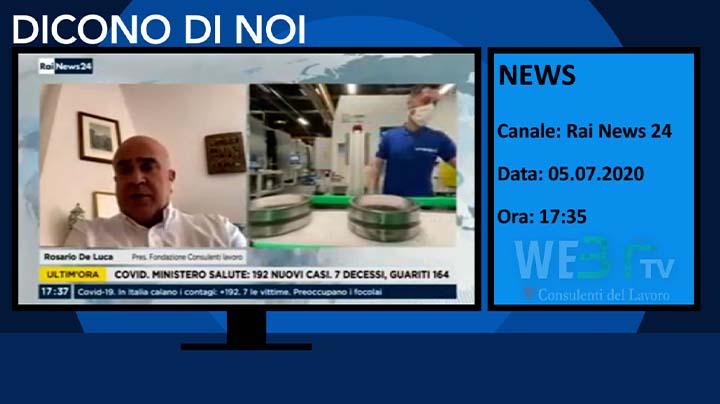 RaiNews 24 del 05.07.2020 17:35