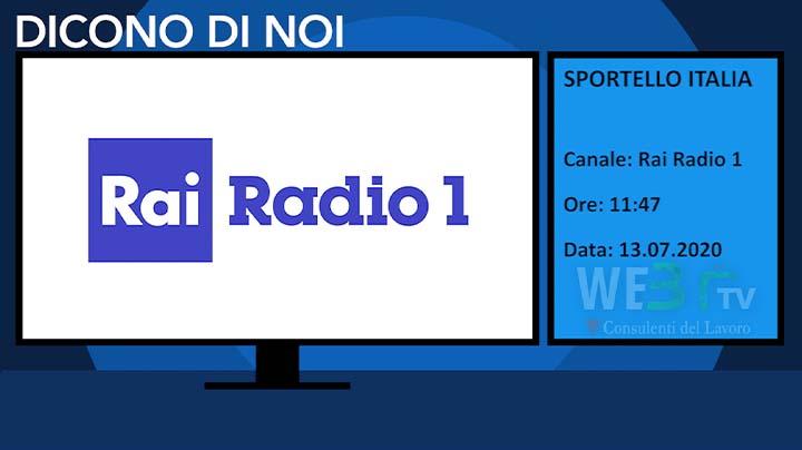 Sportello Italia del 13.07.2020