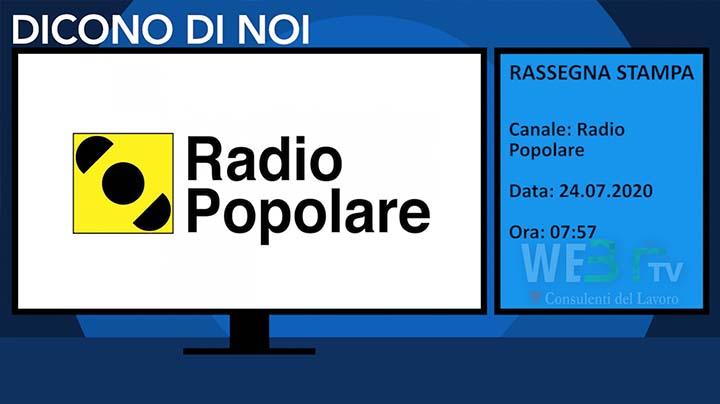 Radio Popolare del 24.07.2020