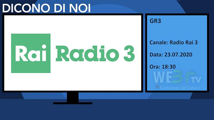 Gr3 Rai Radio 3 del 23.07.2020