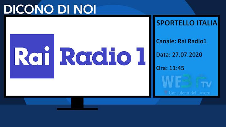 Sportello Italia del 27.07.2020