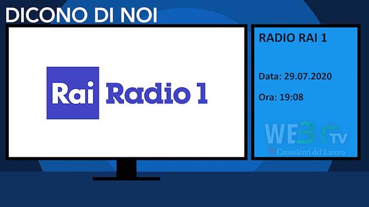 Radio Rai 1 del 29.07.2020