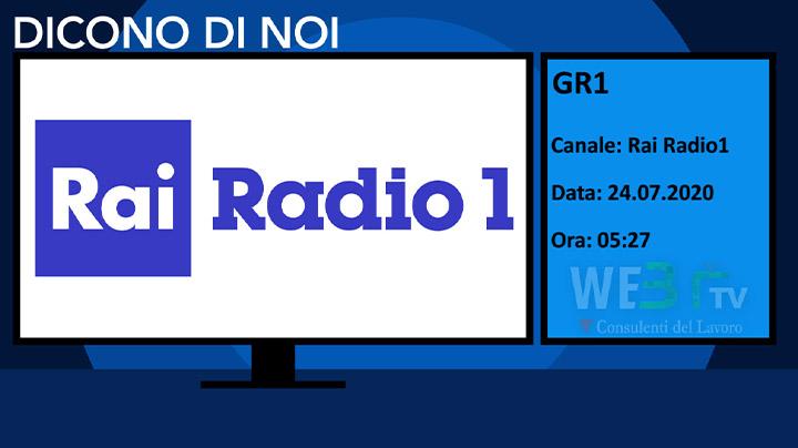 Gr1 Rai Radio 1 del 24.07.2020