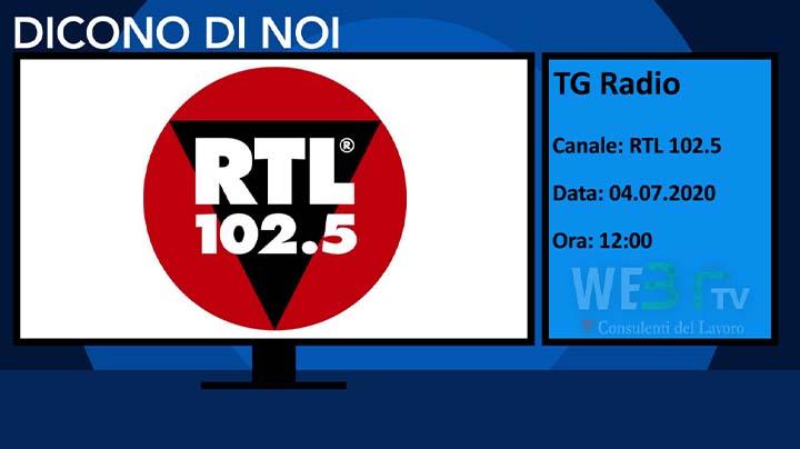 RTL102.5 del 04.07.2020