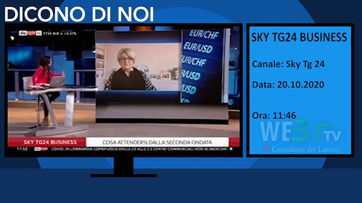 Sky Tg 24 Business del 20.10.2020