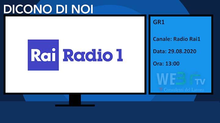 Gr1, Rai Radio1 del 29.08.2020