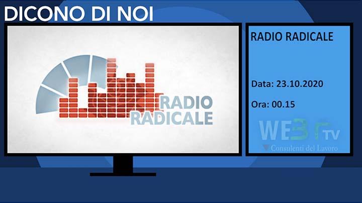 Radio Radicale del 23.10.2020