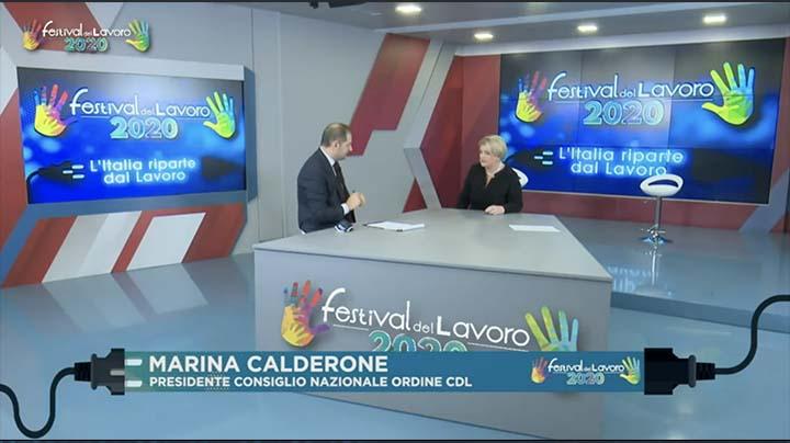 Intervento della Presidente del CNO dei Consulenti del Lavoro, Marina Calderone