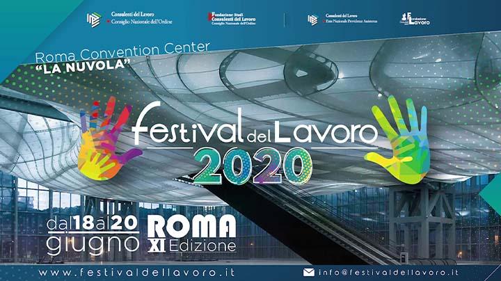 """Festival del Lavoro 2020: appuntamento a """"La Nuvola"""" dal 18.06.2020"""