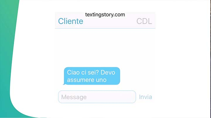 Texting story - CdL VS Cliente