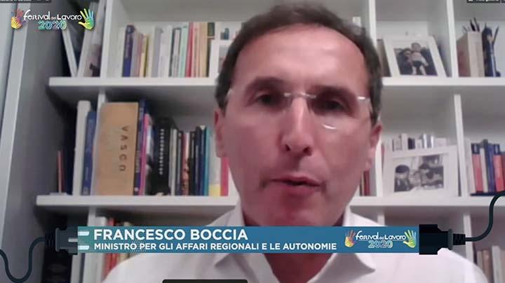 Intervento di Francesco Boccia, Ministro per gli Affari Regionali e le Autonomie