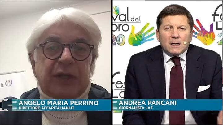 Interventi del Direttore Affaritaliani.it, Perrino e del Giornalista La7, Pancani