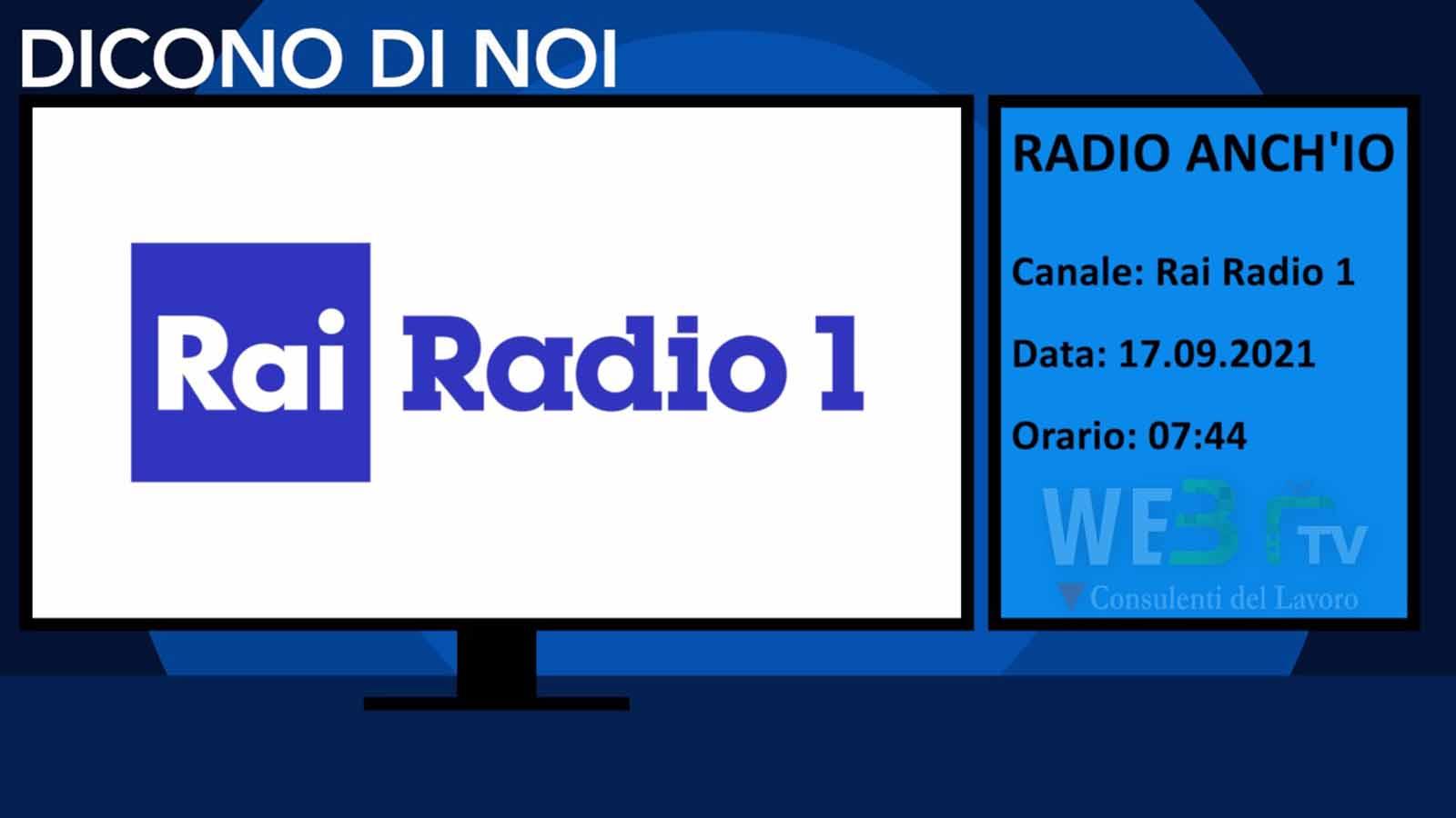 Radio Anch'io del 17.09.2021