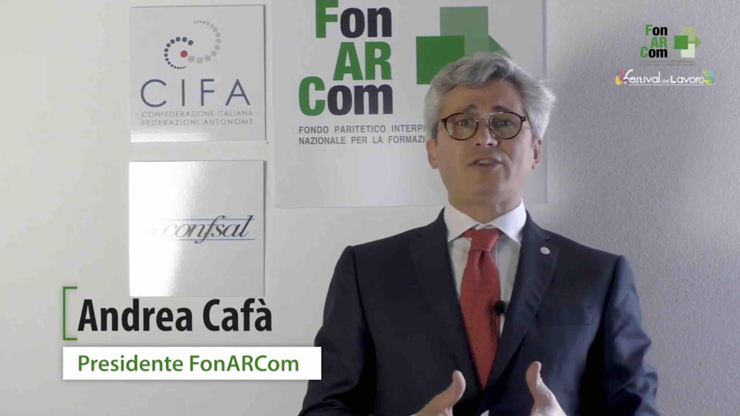 Intervento del Presidente FonARCom, Andrea Cafà