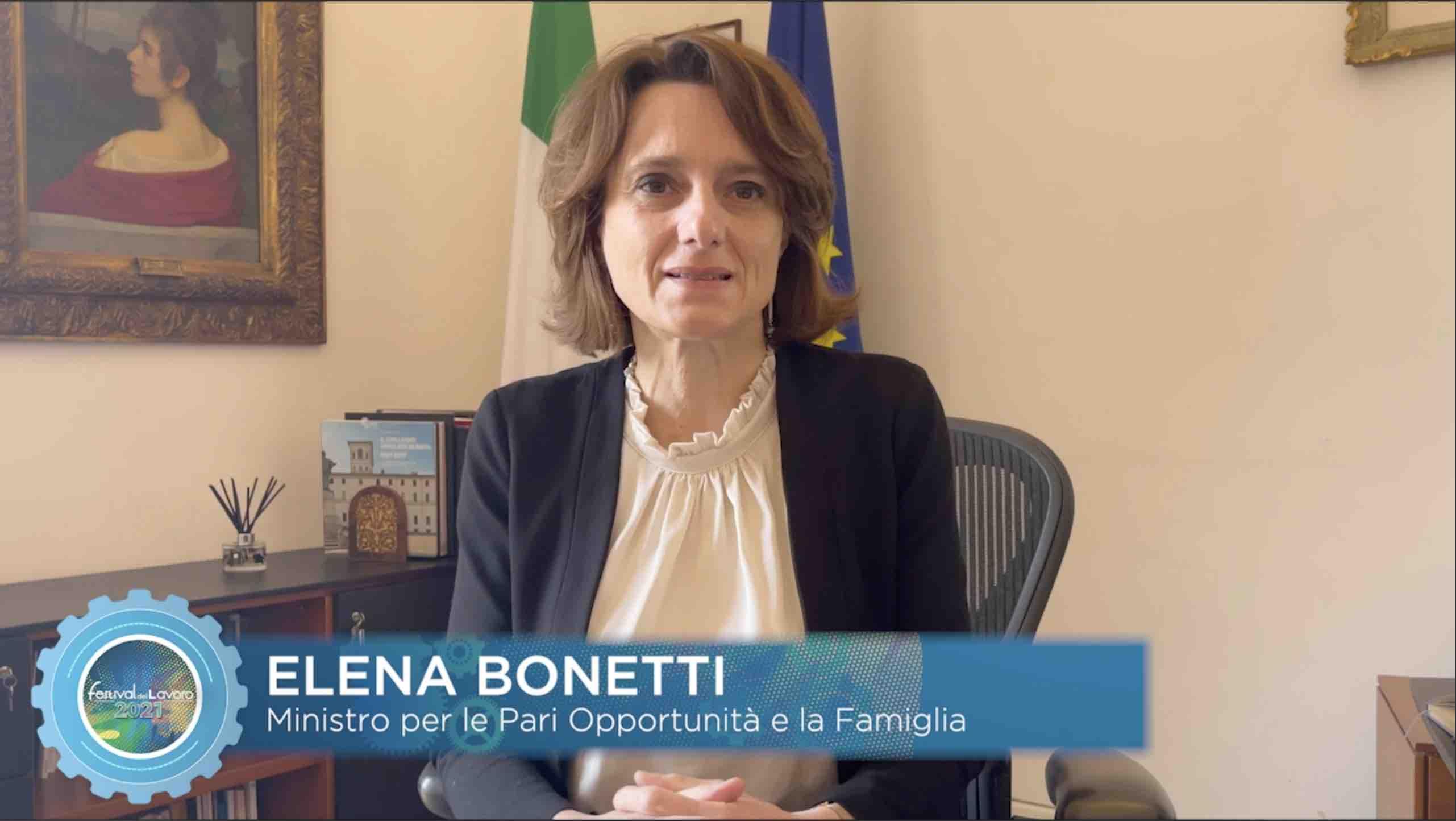 Il videomessaggio del Ministro per le Pari Opportunità e la Famiglia, Erika Bonetti